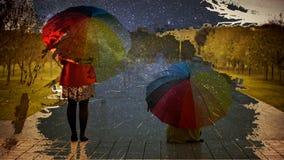 él el llover del ` s Foto de archivo libre de regalías