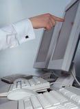 ÉL el señalar del trabajador Imagen de archivo libre de regalías