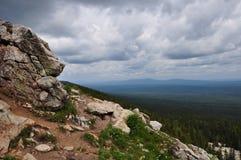 él reflexión de las montañas fotos de archivo libres de regalías