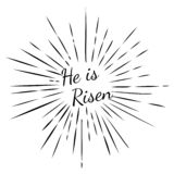 Él se levanta Fondo de Pascua stock de ilustración