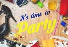 Él tiempo del ` s para ir de fiesta Imagen de archivo libre de regalías