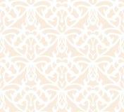 Élaborent le modèle sans couture de vintage blanc sur le fond beige illustration de vecteur