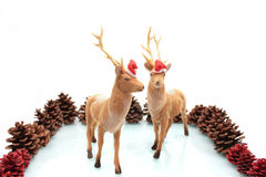 Élans de Noël. Photo libre de droits