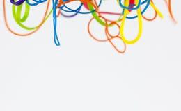 Élastiques colorés Photographie stock libre de droits