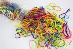 Élastiques colorés Photos libres de droits
