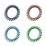 Élastiques en plastique colorés de cheveux photographie stock libre de droits