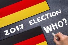 Élection 2017, Allemagne sur le panneau de craie photographie stock libre de droits