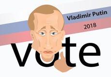 Élection de Poutine du président russe illustration de vecteur