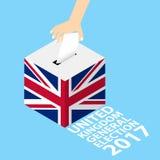 Élection générale BRITANNIQUE 2017 du Royaume-Uni Photographie stock libre de droits