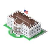 Élection Infographic nous bâtiment isométrique de vecteur de la Maison Blanche illustration libre de droits