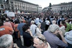 Élection le 30 mai 2011 de pisapia de Giuliano de célébration Images libres de droits