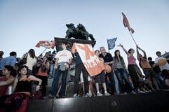 Élection le 30 mai 2011 de pisapia de Giuliano de célébration Image libre de droits