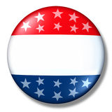 Élection patriotique d'isolement par blanc d'insigne de voix illustration libre de droits