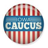 Élection Pin Button rétro ou de vintage de style de l'Iowa de comité de campagne ou insigne Photos stock
