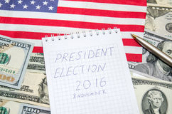 Élection présidentielle 2016 Images libres de droits