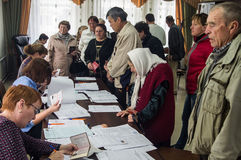 Élections à la douma d'état de la Fédération de Russie le 18 septembre 2016 dans la région de Kaluga Image libre de droits