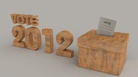 Élections 2012 avec le papier à l'intérieur du cadre Photos libres de droits