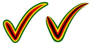 Élections de symbole de drapeau du Zimbabwe de style de coche, vote et approbation, coutil du Zimbabwe de Russe de coche de conce Images libres de droits