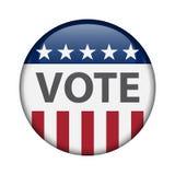 Élections des Etats-Unis Élections à moyen terme 2018 des USA : la course pour le congrès Élection Pin Button, insigne illustration de vecteur