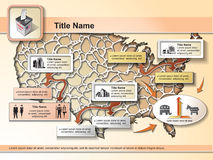 Élections des USA - éléments infographic illustration libre de droits