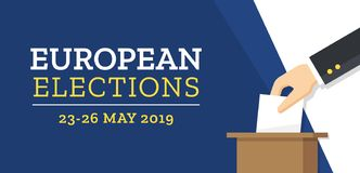 Élections européennes 2019 illustration stock
