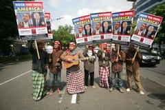 Élections présidentielles d'Obama et de McCain Image libre de droits