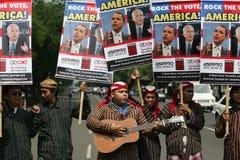 Élections présidentielles d'Obama et de McCain Photos libres de droits