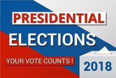 Élections présidentielles en Russie en 2018 illustration de vecteur