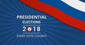Élections présidentielles en Russie en 2018 illustration libre de droits