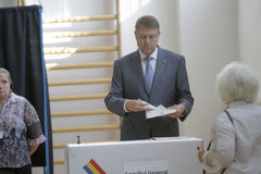 Élections Roumanie Klaus Iohannis Photographie stock