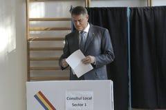 Élections Roumanie Klaus Iohannis Photographie stock libre de droits