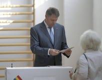 Élections Roumanie Klaus Iohannis Images stock