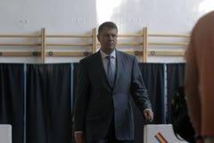 Élections Roumanie Klaus Iohannis Images libres de droits