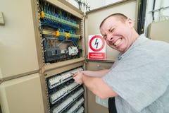 Électricien électrocuté Image libre de droits