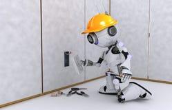 Électricien de robot Images libres de droits