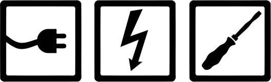 Électricien Electrical Objects illustration de vecteur