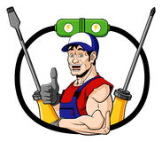 Électricien heureux Image libre de droits
