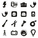 Électricien Icons Freehand Fill Photos libres de droits