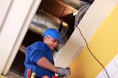 Électricien Working photos stock
