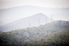 Électrification dans des secteurs sauvages Images stock