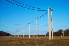 Électrification de campagne Image stock