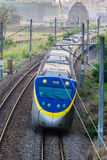 Électrification de train Photographie stock libre de droits