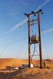 Électrification du désert Image libre de droits