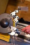 Électrique meule dedans l'action Photos stock