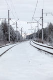 Électrique piquez-vous le chemin de fer Photos libres de droits