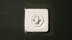 Électrique sur outre du commutateur Photo stock