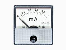 Électro appareil de mesure analogue magnétique Photos stock