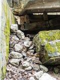 Électro bâtiment abandonné de station Photo stock