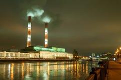 Électro centrale de la chaleur Photos stock
