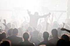 Électro concert et foule Photos stock
